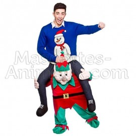 Buy cheap santa elf riding mascot costume. Fancy santa elf riding mascot costume. Discount elf riding mascot.