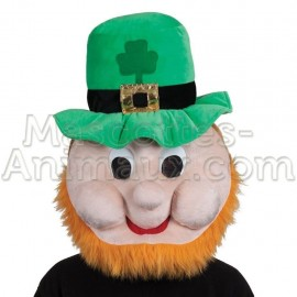 buy cheap st patrick s day leprechaun head mascot costume. Fancy leprechaun mascot costume. Discount leprechaun mascot.