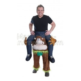 Buy cheap monkey riding mascot costume. Fancy monkey riding mascot costume. Discount monkey riding mascot
