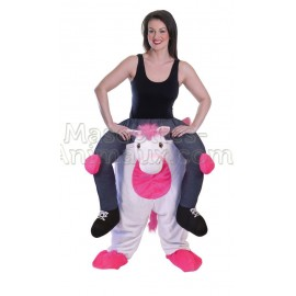 Buy cheap unicorn riding mascot costume. Fancy unicorn riding mascot costume. Discount unicorn riding mascot.