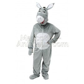Buy cheap grey donkey mascot costume. Fancy grey donkey mascot costume. Discount donkey mascot.