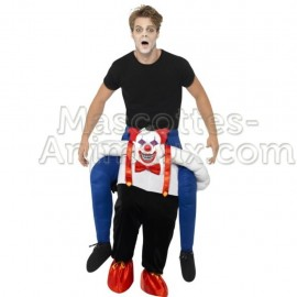 Achat riding mascotte clown méchant pas chère. Déguisement riding mascotte clow méchant . Riding Mascotte discount clown.