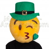 Buy cheap smiley st patrick s day leprechaun head mascot costume. Fancy smiley head mascot costume. Discount simley head mascot.