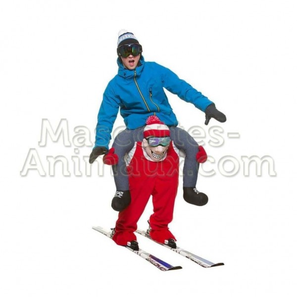 Buy cheap skier riding mascot costume. Fancy skier riding mascot costume. Discount skier riding mascot.