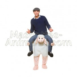 Buy cheap white sheep riding mascot costume. Fancy white sheep riding mascot costume. Discount sheep riding mascot.
