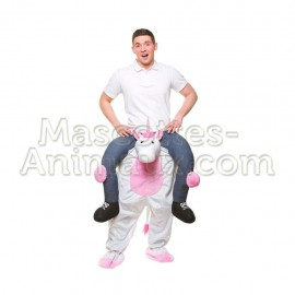 Buy cheap jean unicorn riding mascot costume. Fancy jean unicorn riding mascot costume. Discount unicorn riding mascot.