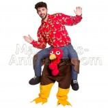 buy cheap turkey riding mascot costume. Fancy turkey riding mascot costume. Discount turkey riding mascot.