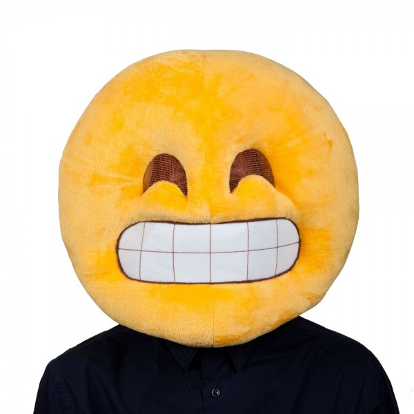 disguise mascot head smiley smile