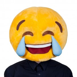 Laughing smiley face mascot costume