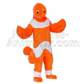 Buy cheap clown fish mascot costume. Fancy clown fish mascot costume. Discount fish mascot.