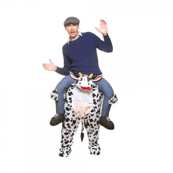 Adult Fancy Pink Pig Riding Mascot Costume