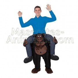 Buy cheap riding gorilla mascot costume. Fancy gorilla mascot costuem. Discount gorilla mascot.